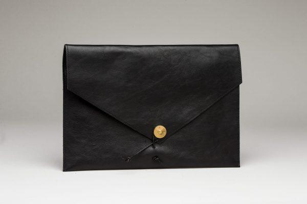 "Leather Laptop 13"" Black"